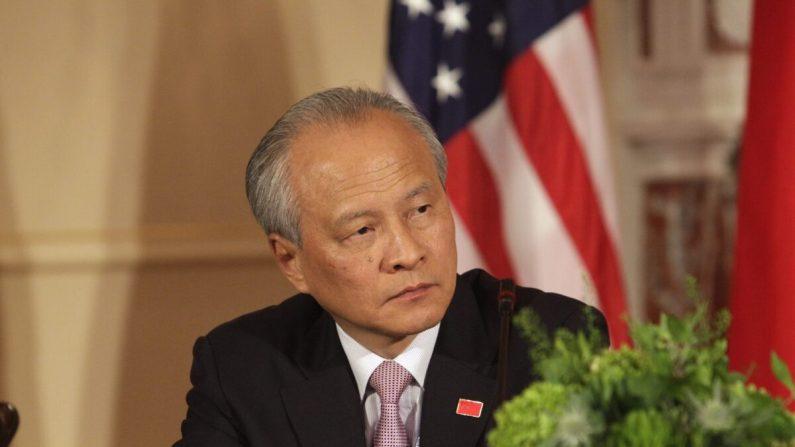 Cui Tiankai, embajador de China en los Estados Unidos en el séptimo Diálogo Estratégico y Económico entre Estados Unidos y China en el Departamento de Estado de los Estados Unidos en Washington, el 24 de junio de 2015. (Chris Kleponis/AFP a través de Getty Images)