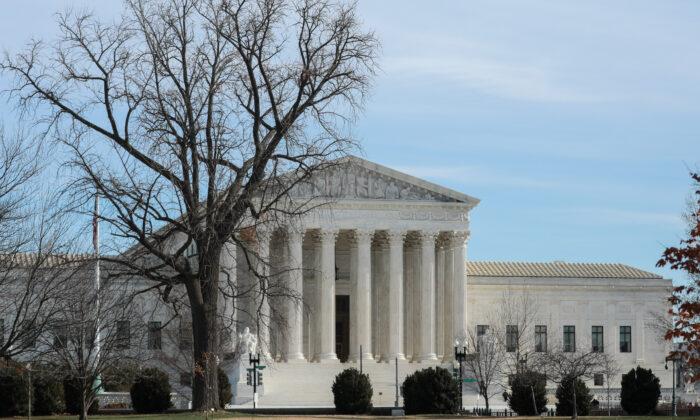 La Corte Suprema en Washington el 9 de enero de 2020. (Charlotte Cuthbertson/The Epoch Times)