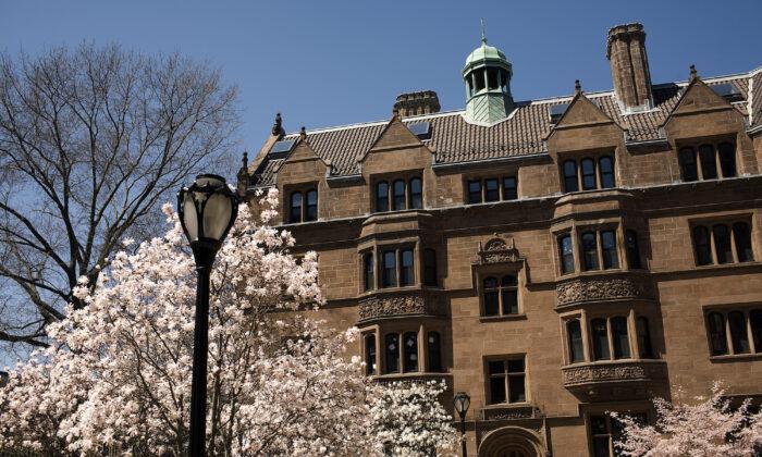 Campus de la Universidad de Yale en New Haven, Connecticut, el 16 de abril de 2008. (Christopher Capozziello/Getty Images)