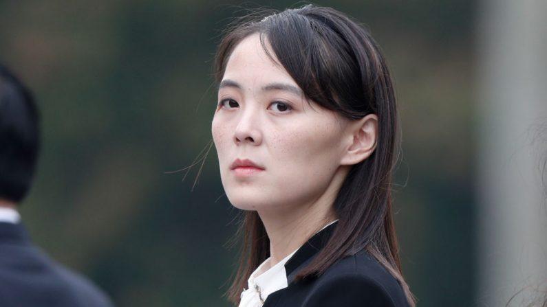 Kim Yo Jong, hermana del líder norcoreano Kim Jong Un, asiste a la ceremonia en el Mausoleo Ho Chi Minh en Hanoi, el 2 de marzo de 2019. (JORGE SILVA/AFP a través de Getty Images)