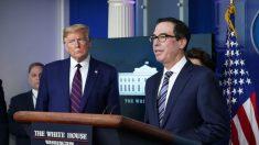 Negocios podrían reabrir en mayo, dice el secretario del Tesoro de Estados Unidos