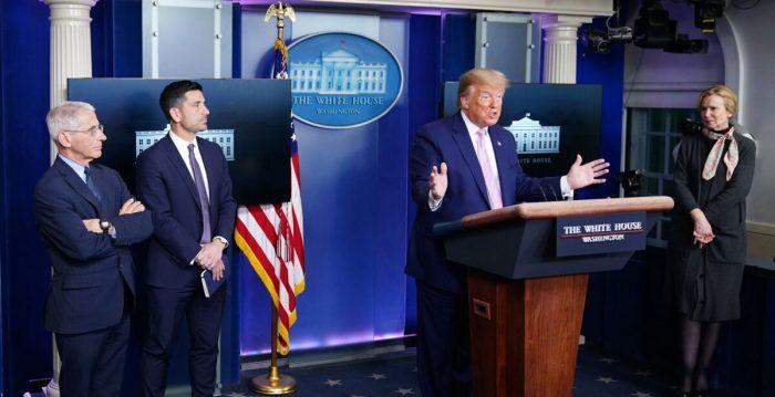 Trump arroja dudas sobre los números oficiales de China sobre el COVID-19