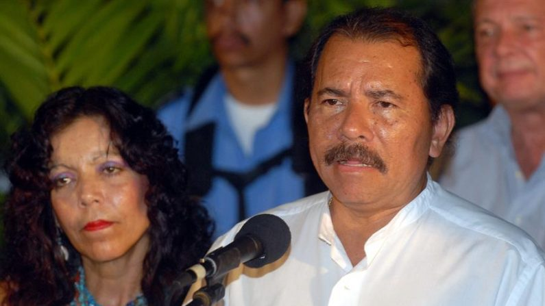 En la imagen el líder nicaragüense Daniel Ortega y su esposa, Rosario Murillo. (EFE/Mario López/Archivo)