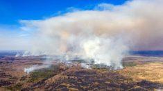Incendios forestales cerca de la planta abandonada de Chernobyl plantean riesgo de radiación