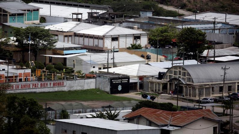 Fotografía del Centro Penitenciario Nacional de Tamara el 28 de mayo de 2020 al norte de Tegucigalpa (Honduras). EFE/Gustavo Amador