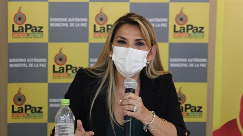 La presidente interina de Bolivia, Jeanine Añez. EFE/ Luis Ángel Reglero/Archivo