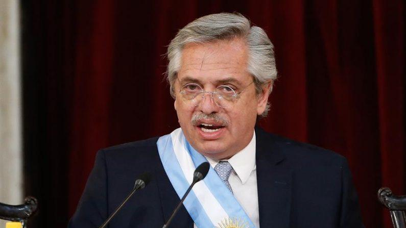 El presidente de Argentina, Alberto Fernández. EFE/ Juan Ignacio Roncoroni/Archivo