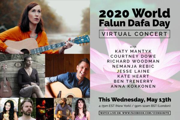 Celebre el Día Mundial de Falun Dafa este miércoles 13 de mayo de, 4 a 7 p.m. EST, con un concierto virtual.