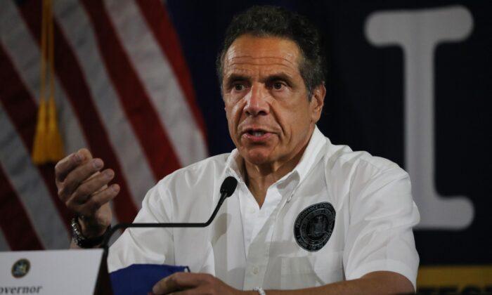 El gobernador de Nueva York, Andrew Cuomo, en la ciudad de Nueva York el 28 de mayo de 2020. (Spencer Platt / Getty Images)