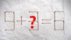 Desafío matemático con palillos de fósforos: ¿Puedes resolver la ecuación moviendo solo un fósforo?