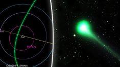 Una vez en la vida: Cometa verde con una cola de 10 millones de millas podría verse a simple vista
