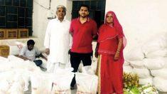 Pareja de granjeros indios usa sus ahorros para alimentar a 7000 familias pobres durante la pandemia