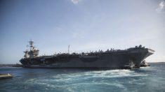 El portaaviones infectado por el virus del PCCh regresa al mar después de 2 meses