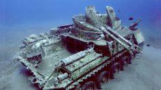 Fotógrafo toma impresionantes imágenes de tanque hundido atrapado en el tiempo bajo el Mar Rojo
