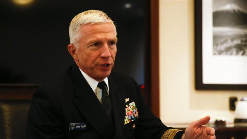 El almirante Craig Faller, comandante del Mando Sur de las Fuerzas Armadas. EFE/Alberto Peña/Archivo