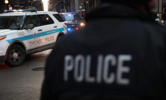 Un oficial de policía de Chicago en una foto de archivo. (Scott Olson/Getty Images)