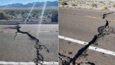 Carretera de Nevada se agrietó y fue cerrada después del terremoto de 6.5 grados