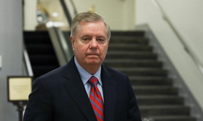 El senador Lindsey Graham (R-S.C.) en el Capitolio en Washington el 4 de febrero de 2020. (Charlotte Cuthbertson/The Epoch Times)