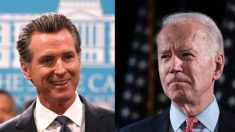 Gobernador de California, Gavin Newsom, respalda a Joe Biden para presidente