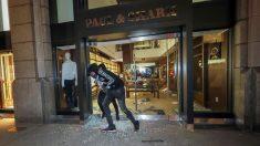 Comienzan en Nueva York los primeros saqueos en la quinta noche de protestas y vandalismo