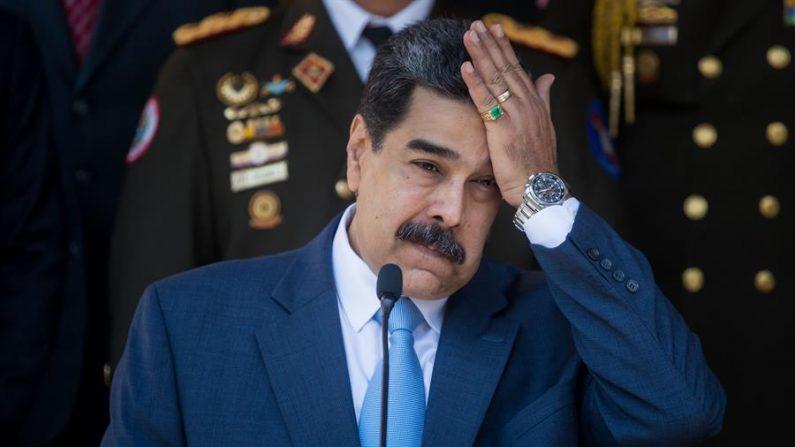 En la imagen el líder socialista de Venezuela, Nicolás Maduro. El Tribunal de Apelación caboverdiano de Barlavento decidió el 5 de enero de 2020 dar luz verde a la extradición a EE.UU. del empresario colombiano Alex Saab, acusado de ser testaferro de Maduro. EFE/ Miguel Gutiérrez/Archivo