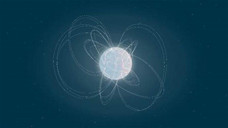 Los magnetares son los objetos cósmicos con los campos magnéticos más fuertes del universo. EFE/Imagen de la ESA cedida por el CSIC.