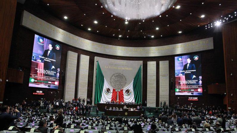 Vista general del Pleno de La Cámara de Diputados, en Ciudad de México (México). EFE/Mario Guzmán/Archivo