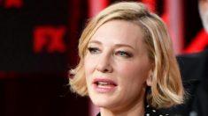 Cate Blanchett se hirió la cabeza con una motosierra durante el confinamiento, pero está bien