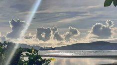 """Asombrosa foto de nubes formando la palabra """"love"""" da esperanza a la gente en medio de crisis mundial"""
