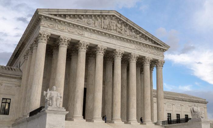 La Corte Suprema en Washington, el 10 de marzo de 2020. (Samira Bouaou/The Epoch Times)