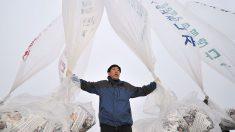 Desertor dice que seguirá enviando globos con propaganda a Corea del Norte