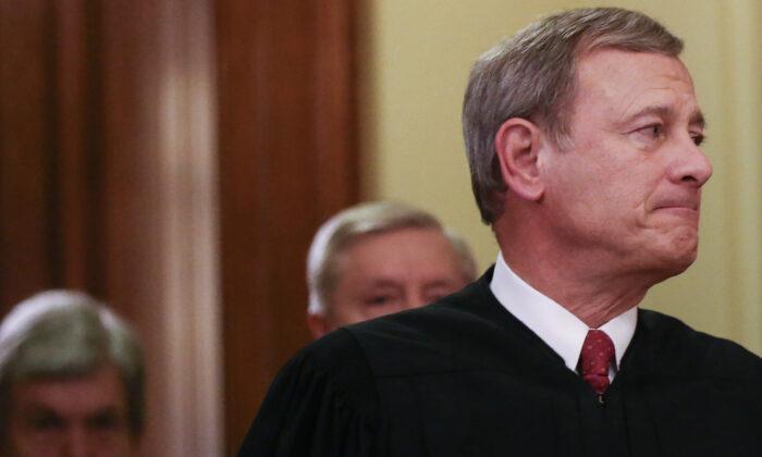 El presidente del Tribunal Supremo, John Roberts, en Washington, el 5 de febrero de 2020. (Mario Tama/Getty Images)