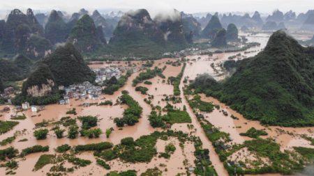 Lluvias intensas e inundaciones sumergen regiones de toda China