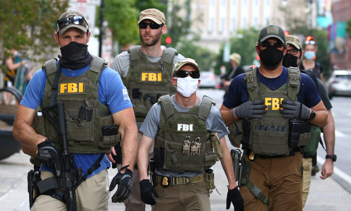 Agentes del FBI en Washington DC el 3 de junio de 2020. (Tasos Katopodis/Getty Images)