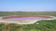 Un lago de 50,000 años de antigüedad en la India se vuelve rosa