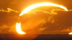 """NASA revela cómo luciría el """"Anillo de Fuego"""" del eclipse solar el 21 de junio"""