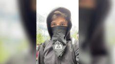 Policía nombra a anarquista como sospechoso por incitar presuntamente a la violencia durante protesta