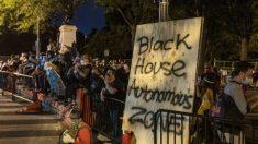 """Manifestantes intentan establecer una """"Zona Autónoma de la Casa Negra"""" cerca de la Casa Blanca"""