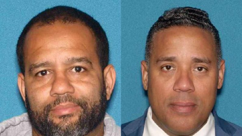 El concejal de la ciudad de Paterson Michael Jackson (I) y el concejal electo de Paterson Alex Mendez en fotos sin fecha. (Oficina del Fiscal General de Nueva Jersey)