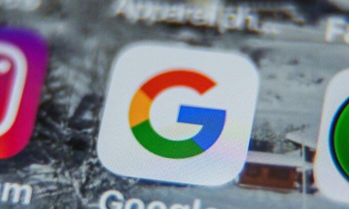El logo de Google en una tableta en Lille, Francia, el 28 de agosto de 2019. (Denis Charlet/AFP/Getty Images)