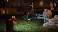 Trump denuncia ola de derrumbe de estatuas