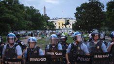 La policía impidió que unos vándalos derribaran la estatua de Andrew Jackson cerca de la Casa Blanca