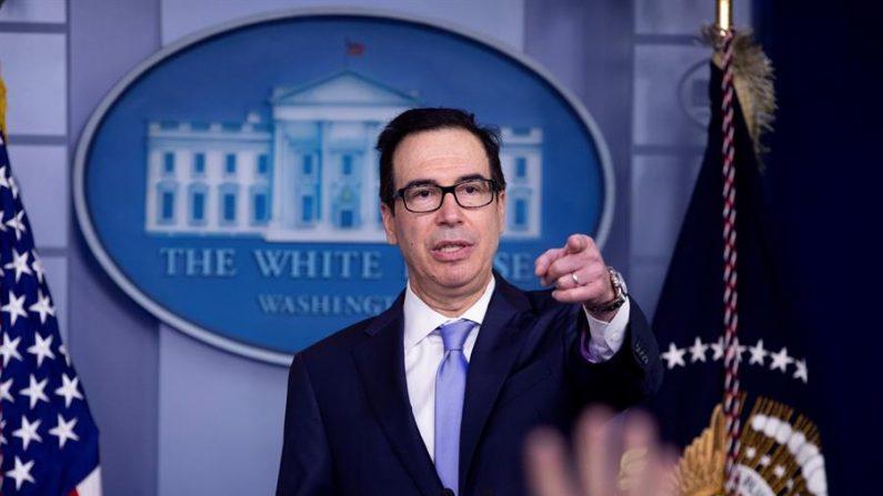 En la imagen, el secretario del Tesoro de EE.UU., Steven Mnuchin. EFE /Michael Reynolds /Archivo