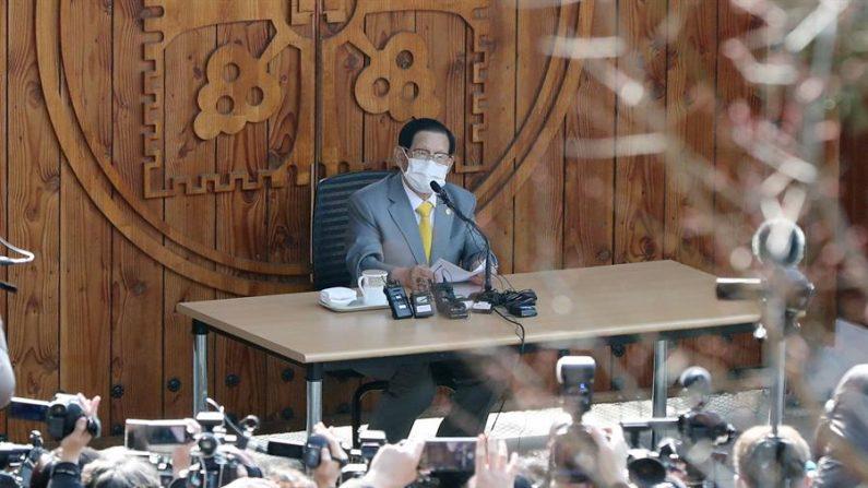 Detienen al líder de la secta surcoreana que originó gran brote de COVID-19. EFE/EPA/YONHAP/Archivo