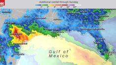 Un sistema tropical traerá fuertes lluvias a la costa del Golfo este fin de semana