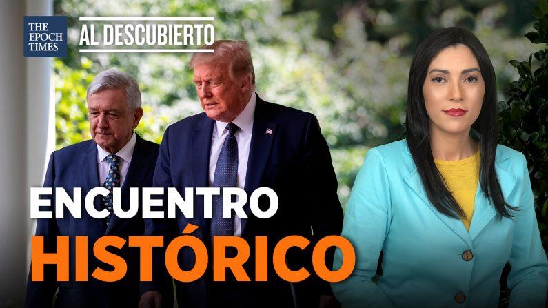 Histórico encuentro entre Trump y AMLO. (Al Descubierto/La Gran Época)