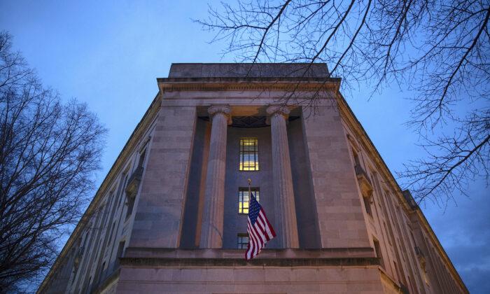 El Departamento de Justicia en Washington, el 22 de marzo de 2019. (Drew Angerer/Getty Images)