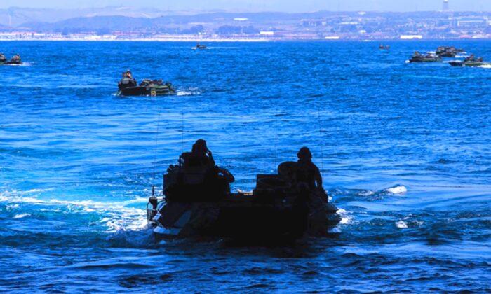 Al menos 1 marine ha muerto y otros 8 están desaparecidos tras sufrir un accidente con un vehículo anfibio frente a la costa del sur de California el 30 de julio de 2020. (Sargento Kassie McDole del Cuerpo de Infantería de Marina de EE.UU.)