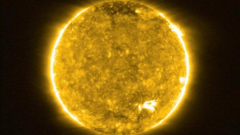 Vista del Sol, en la imagen más cercana nunca tomada de nuestra estrella, realizada por la misión europea Solar Orbiter. EFE/Solar Orbiter/EUI Team (ESA y NASA)
