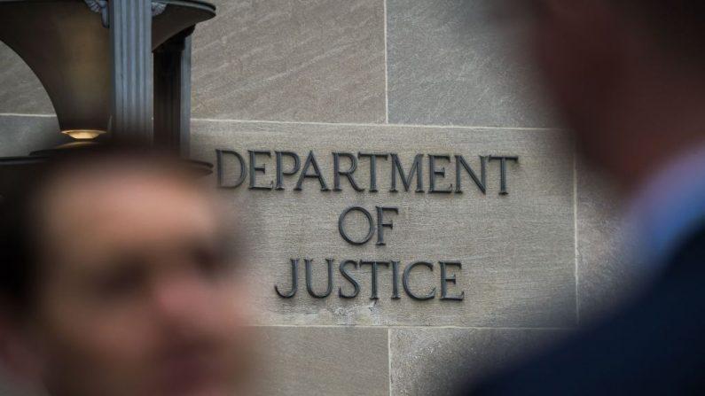 El edificio del Departamento de Justicia de Estados Unidos en Washington el 18 de abril de 2019. (Chandan Khanna/AFP/Getty Images)